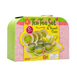 Schylling Children's Tin Tea Set with Carrying Case by Schylling