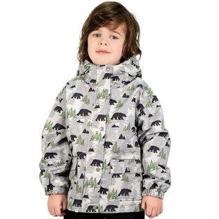 Jan & Jul by Twinklebelle Bear Print Fleece Lined Rain Jacket by Jan & Jul