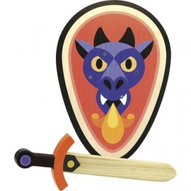 Vilac Wooden Dragon Sword & Shield Set by Vilac