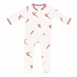 Kyte Baby Hummingbird Print Zippered Bamboo Footie by Kyte Baby