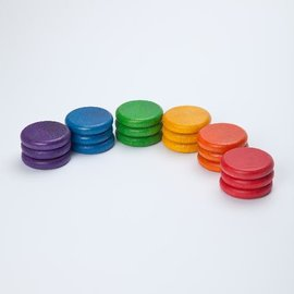 Grapat Wood Coloured Coins 18 Piece set by Grapat