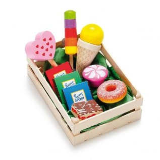 Erzi Wooden Play Food - Sweet Treats in Wooden Crate by Erzi