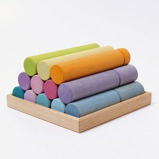 Grimms Large Building Rollers (Pastel) by Grimms