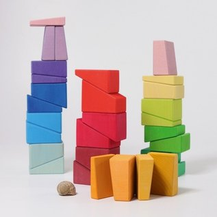 Grimms Building Set Sloping Wooden Blocks (30 Piece) by Grimms Wooden Toys
