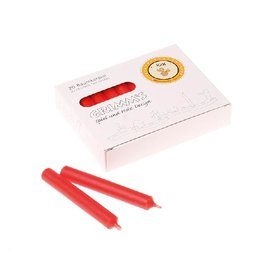 Grimms RED 10% Beeswax Candles for Birthday Ring