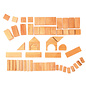 Grimms Natural Geometrical Wooden Blocks (60 Piece) by Grimms Wooden Toys