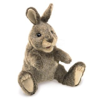 Folkmanis Puppets Small Cottontail Rabbit Hand Puppet