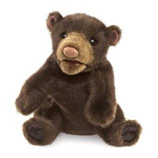 Folkmanis Puppets Small Black Bear Hand Puppet