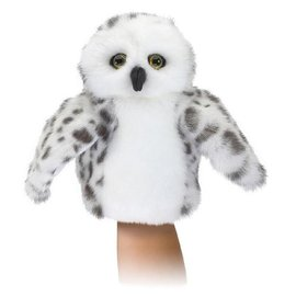 Folkmanis Puppets Little Snowy Owl Hand Puppet