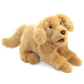 Folkmanis Puppets Golden Retriever Puppy Hand Puppet