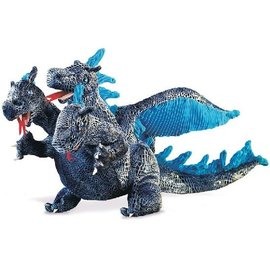 Folkmanis Puppets Blue Three-Headed Dragon Hand Puppet
