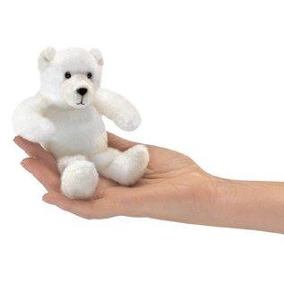 Folkmanis Puppets Mini Polar Bear Finger Puppet by Folkmanis