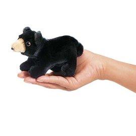 Folkmanis Puppets Mini Black Bear Finger Puppet by Folkmanis