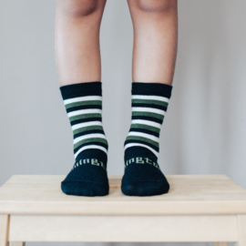 Lamington Cadet Print Merino Wool Crew Length Socks
