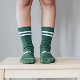 Lamington Sage Merino Wool Crew Length Socks