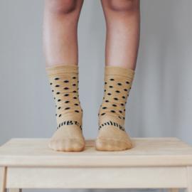 Lamington Acorn Print Merino Wool Crew Length Socks