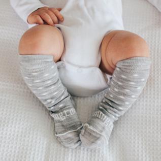 Lamington Snowflake Print Merino Wool Knee High Socks