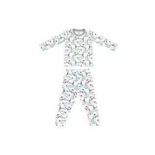 Nest Designs Orca White Print Organic Cotton 2 Piece PJs by Nest Designs