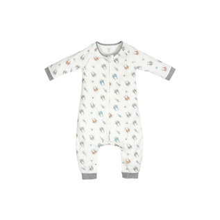 Nest Designs Otter Love Print Long Sleeve Organic Cotton Sleep Suit
