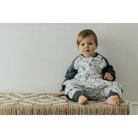 Nest Designs Orca White Print Raglan Bamboo 2.5 Tog Cozy Sleep Suit by Nest Designs