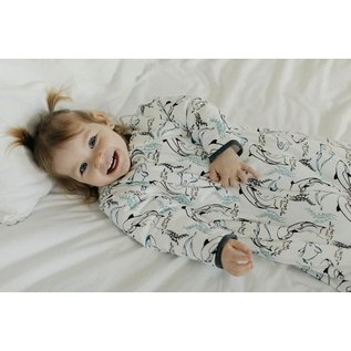 Nest Designs Orca White Print Bamboo Winter 3.5 Tog Cozy Sleep Bag by Nest Designs