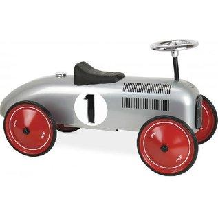Vilac Grey Vintage Style Ride On Metal Car