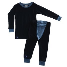 Wee Woollies Raven/Charcoal Colour Merino Wool PJ/Base Layer Set by Wee Woollies