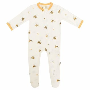 Kyte Baby Buzz Print Zippered Bamboo Footie by Kyte Baby