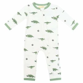Kyte Baby Dino Print Zippered Bamboo Romper by Kyte Baby