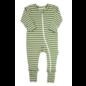 Parade Green Breton Stripes '2-Way' Zip Romper Organic Cotton by Parade