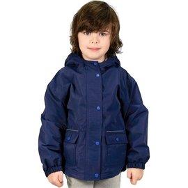 Jan & Jul by Twinklebelle Navy Fleece Lined Rain Jacket by Jan & Jul