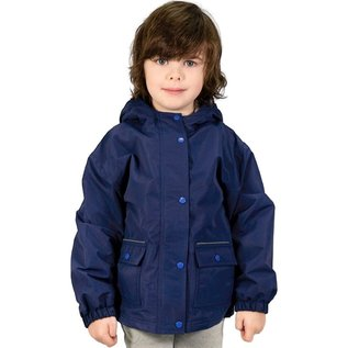 Jan & Jul by Twinklebelle Navy Fleece Lined Rain Jacket by Jan & Jul