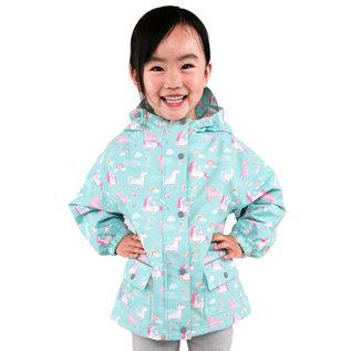 Jan & Jul by Twinklebelle Unicorn Print Fleece Lined Rain Jacket by Jan & Jul