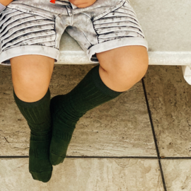 Lamington Caper Green Merino Wool Knee High Socks