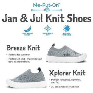 Jan & Jul by Twinklebelle Mustard Xplorer Knit Shoe by Jan & Jul