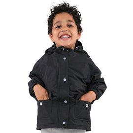 Jan & Jul by Twinklebelle Black Fleece Lined Rain Jacket by Jan & Jul