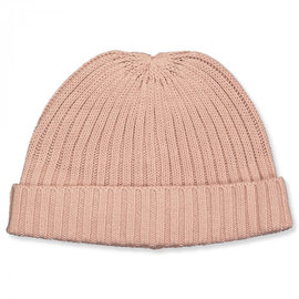 WHEAT KIDS Wool/Cotton Rose Powder Melange Bobba Beanie  Hat by Wheat