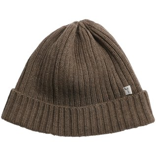 WHEAT KIDS Wool/Cotton Brown Melange Bobba Beanie  Hat by Wheat
