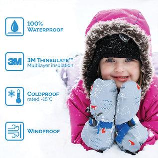 Jan & Jul by Twinklebelle Navy Waterproof Mittens by Jan and Jul