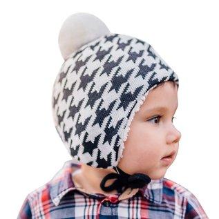Jan & Jul by Twinklebelle Houndstooth Winter Hat with Ear Flaps by Jan & Jul