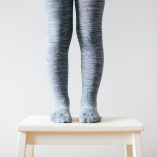 Lamington Grey Merino Wool Tights by Lamington