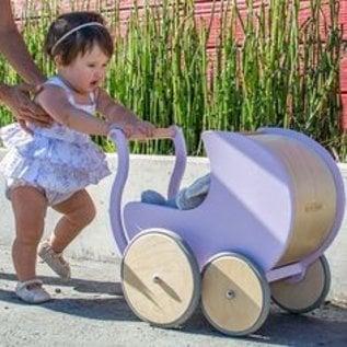Kinderfeets Lavender Colour Wooden Pram 2 in 1 Walker by Kinderfeets