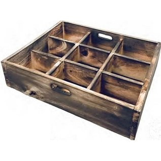 Papoose Wooden Sorting Tray with 9 Divisions