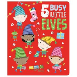 Make Believe Ideas 5 Busy Little Elves board Book with Silicone Texture