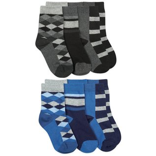 Jefferies Argyle & Stripe Dress Crew Socks 3 Pair Pack