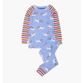 Hatley Rainbow Unicorns Organic Cotton Raglan Pajamas 2 Piece Set by Hatley