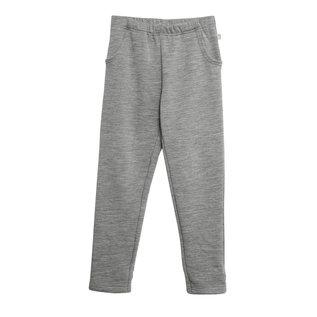 WHEAT KIDS Melange Grey Wool Sweatpants by Wheat