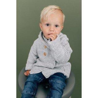 Beba Bean Grey Crochet Knit Hoodie by Beba Bean