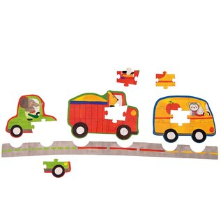 Moulin Roty Toddler Vehicle Puzzle Set of 4 by Moulin Roty