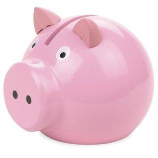 Vilac Wooden Pink Piggy Bank (Made in France)